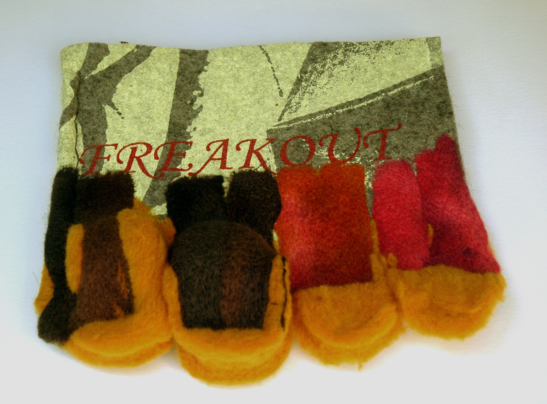 Felted wool cover of Freakout.