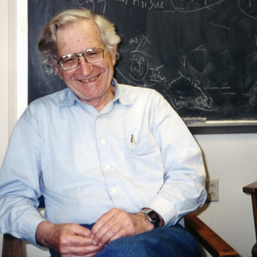 Allen Bell and Noam Chomsky